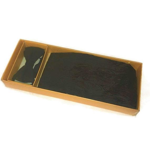 60s Black Cummerbund, Bow Tie, Black Bow Tie,  Bow