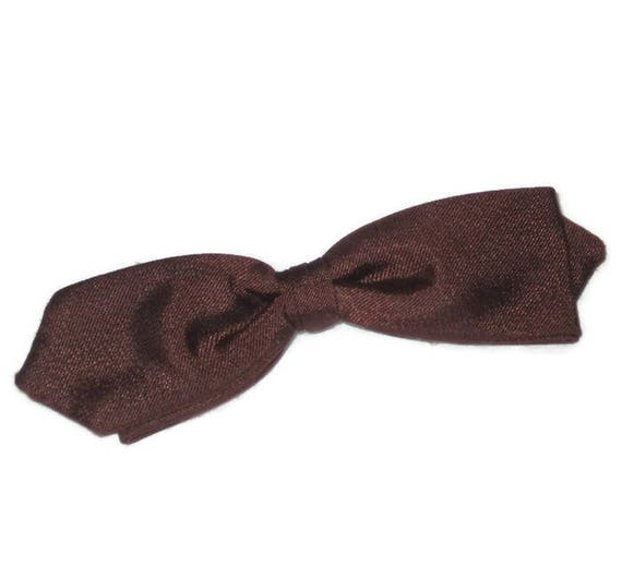 1950s Bow Tie, Brown Bow Tie, Vintage Bow Tie, Dia
