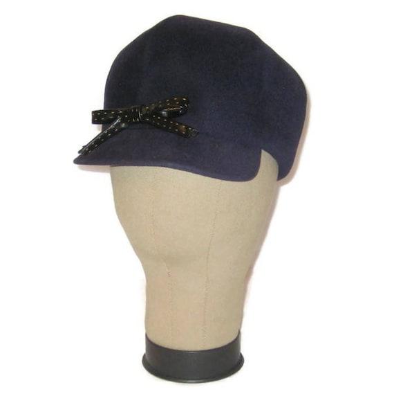 1960s MOD Hat, MOD Hat, Mod Blue Felt Hat,  Scoote