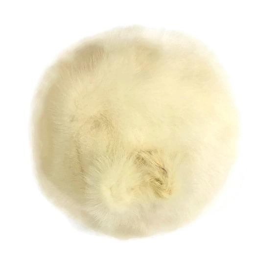 60s Mink Bubble Hat, Vintage 1960s White Fur Hat - image 8