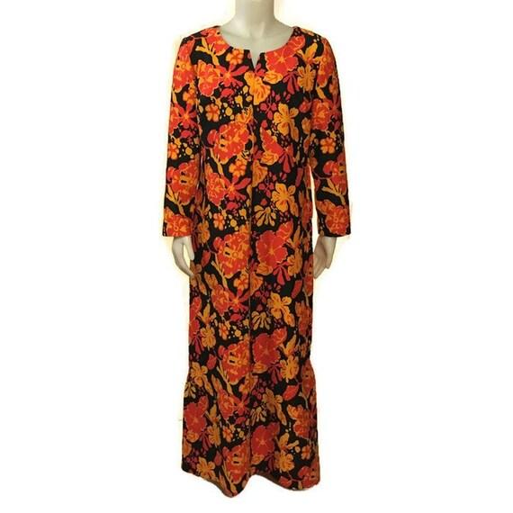 60s Hostess Gown, Kaftan, Floor Length, 1960s Max… - image 3