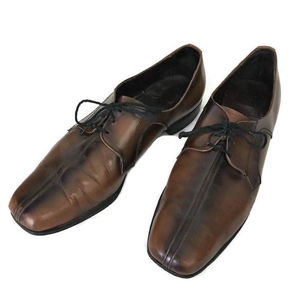 70s Mens Shoes, Ombre Shoes, Brown Black Shoes, La