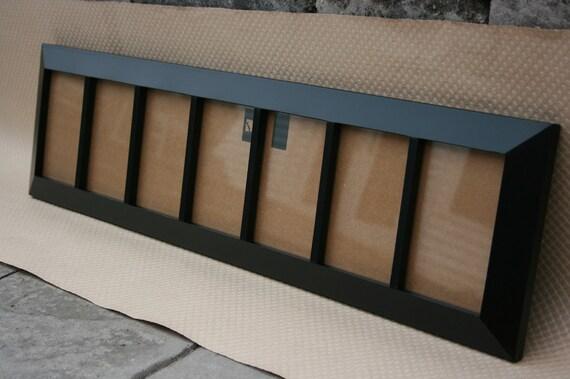 6-opening frame HANDMADE black painted wood