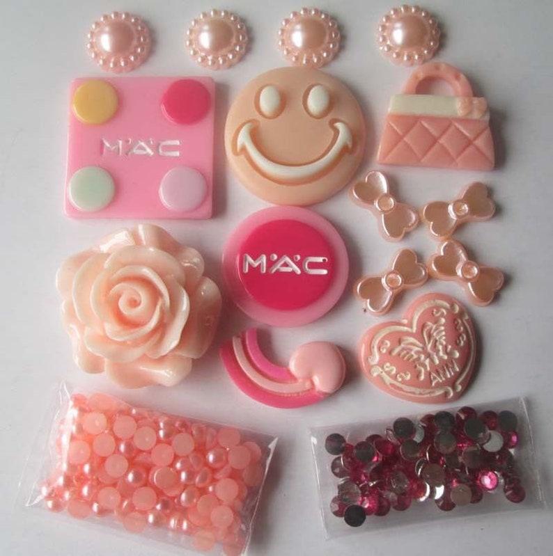 Embellishments Kit-Pink Flower Smilie Face