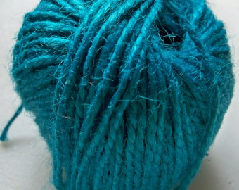 Teal Blue Burlap Jute Twine-2mm-10 YDS  #JT014