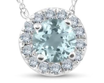 14K or Blanc SI2//G Blanc Diamant Halo Solitaire Stud Mariage Boucles d/'oreilles vestes