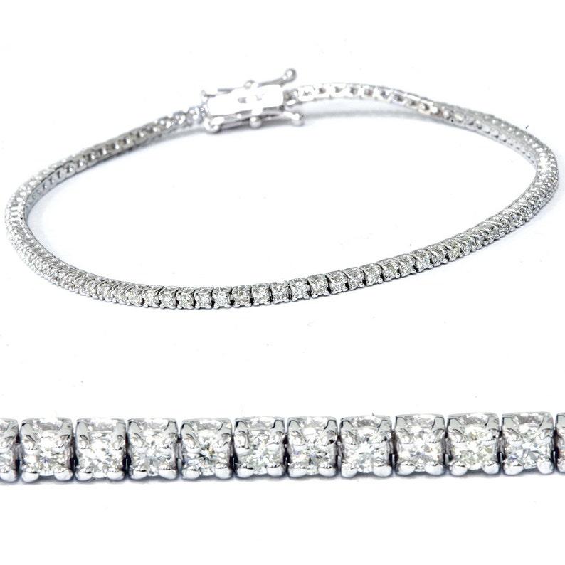 8406b4e28ccb Ct 1 laboratorio crecido diamante oro blanco 18K pulsera de
