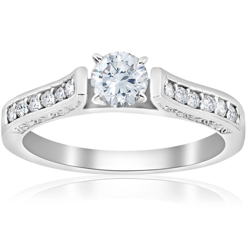 ee80d058018d Vintage anillo de compromiso ct 1 2 antigua Art Deco diamante