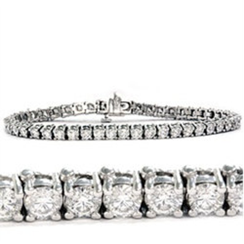 2d2e6d506c86 300 CT diamante tenis pulsera 14K oro blanco 7