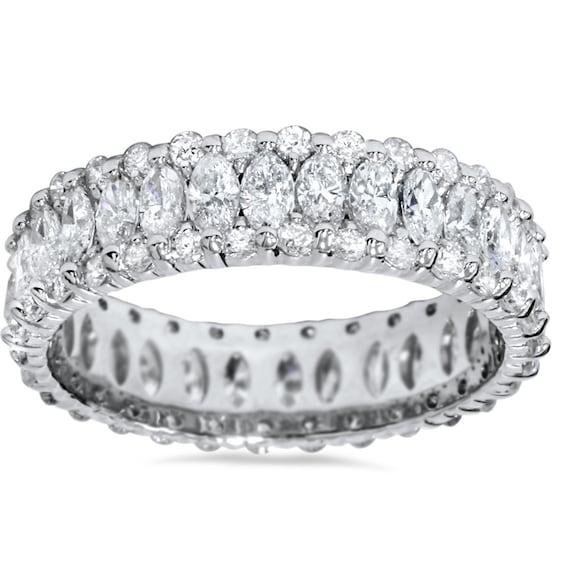 Diamond Eternity Ring Marquise Diamond Ring White Gold Etsy