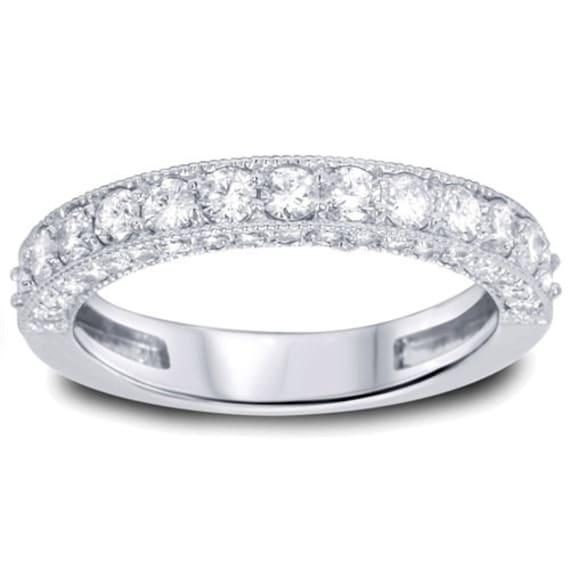 Diamond Wedding Ring 1 15ct Diamond Stackable Wedding Band Etsy