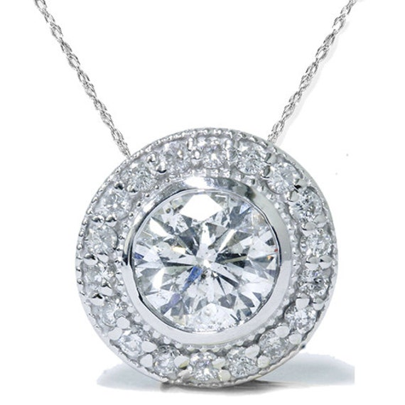 14ky Round 4-Prong Heavy Weight .03ct Pendant Setting