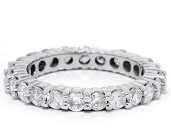 Diamond Eternity Ring Diamond Eternity Band Diamond Wedding Ring Diamond Wedding Band Wedding Ring 14K White Gold Wedding Band Sizes (4-9)