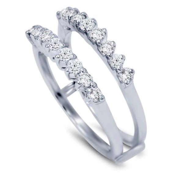 Diamond 60ct Guard Ring Wedding Band Insert Engagement Etsy