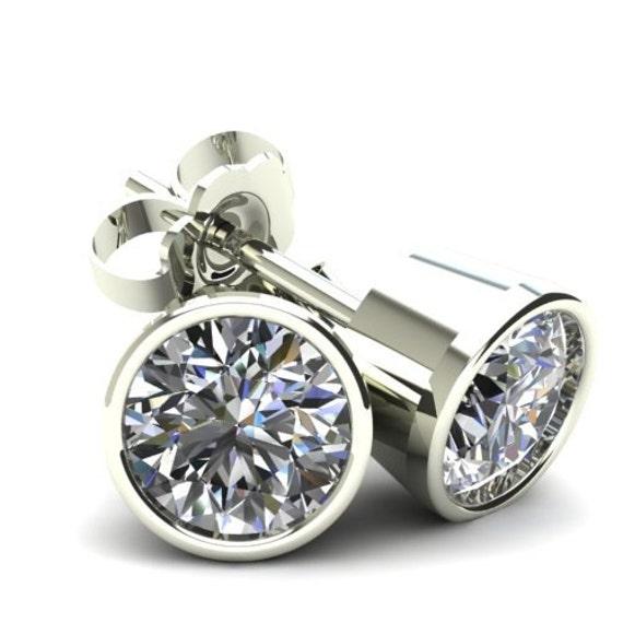 1//2Ct Rund Brillantschliff Diamant Ohrstecker Ohrringe 14K Weiß Oder Gelbgold