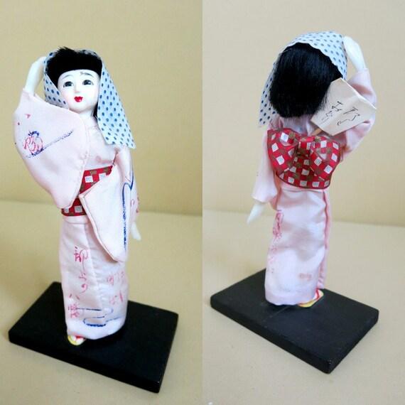"Oriental Furniture 14/"" Geisha Figurine w// Plum Tree Kimono"