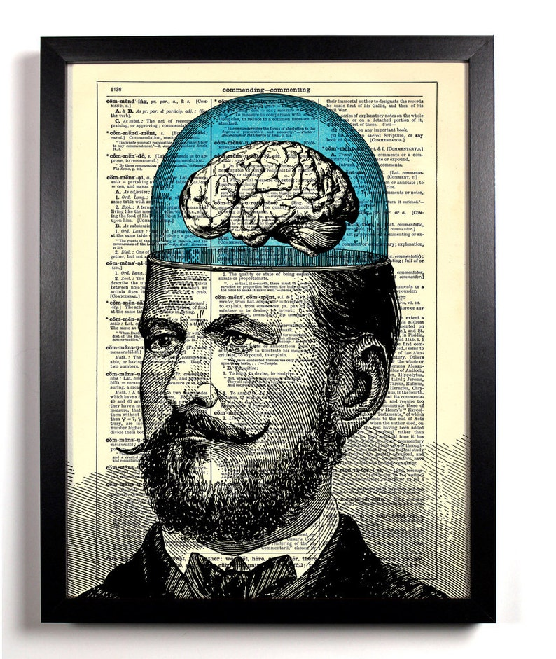 Mustached Man's Big Brain Home Kitchen Nursery Office image 0
