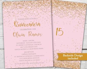 quinceanera invitation etsy