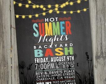 summer bbq invite etsy
