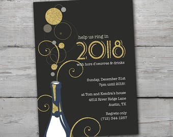 new years eve invitation 2018 party invitation new years invitation new years party new years eve party printable new year party