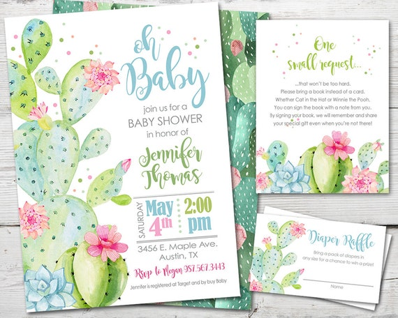 Succulent Baby Shower Sign Welcome Baby Shower Sign Cacti Baby Shower Decorations Welcome Sign Baby Shower Sign Cactus Baby Shower