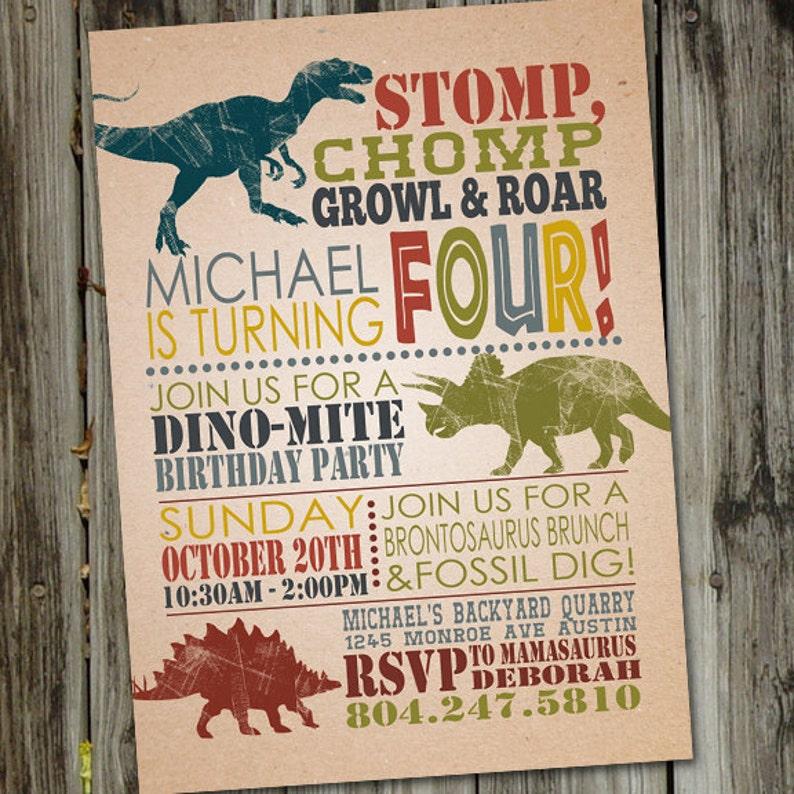 Dinosaur Birthday Invitations Invitation