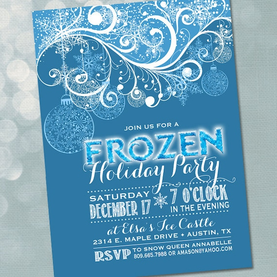 Frozen Invitation Party Birthday