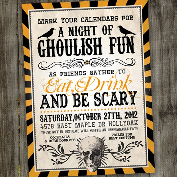 graphic about Printable Halloween Party Invitations known as Grownup Halloween Get together Invites, Halloween Invitation