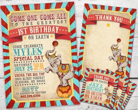 Vintage Circus Invitation Party