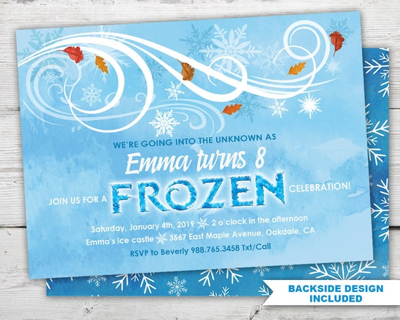 It is a photo of Dramatic Frozen Invites Printable