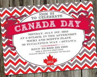 Canada Day PRINTABLE Party Invitation