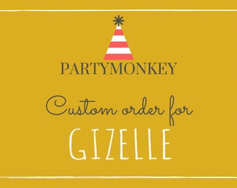 Private listing for Gizelle for 50 Printed Carousel Birthday Ticket Invitations