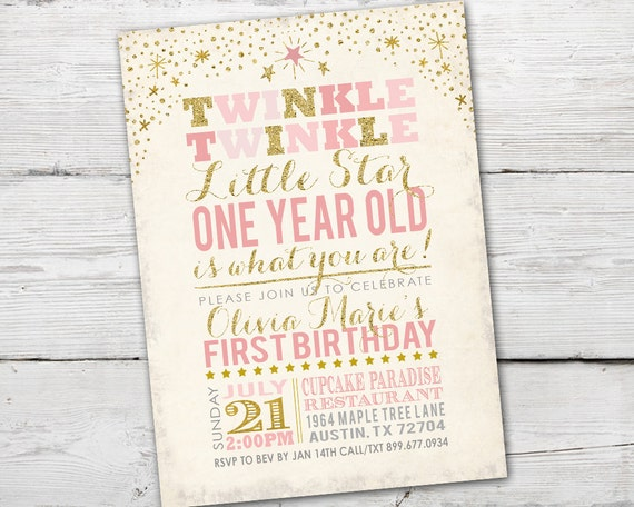 Twinkle Little Star First Birthday