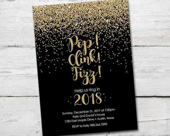 New Years Eve Invitation New Years Eve New Years Party Invitation
