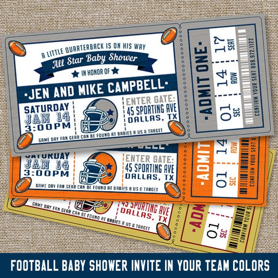 football baby shower invitations football baby shower etsy
