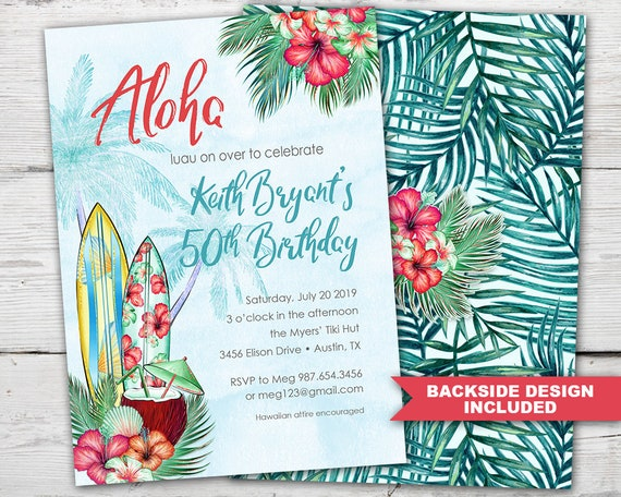 graphic relating to Printable Luau Invitations identified as Luau Celebration Invitation, Luau Birthday Invitation, Luau Birthday Get together Invites PRINTABLE, Luau Occasion Invitations, Luau Get together Invites