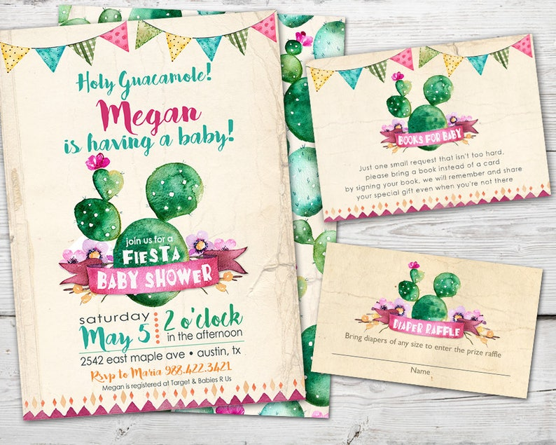 Cinco De Mayo Baby Shower Invitation Fiesta Baby Shower Fiesta Baby Shower Invitation Cactus Baby Shower Invitation Cactus Invitation