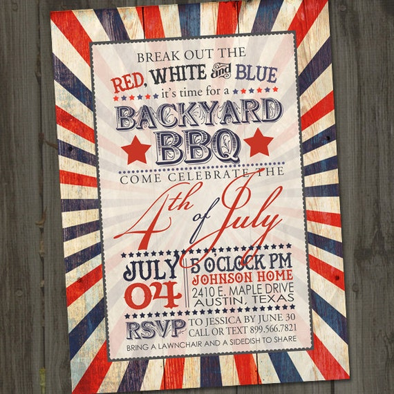 antique fourth of july invitation fourth of july invite printable