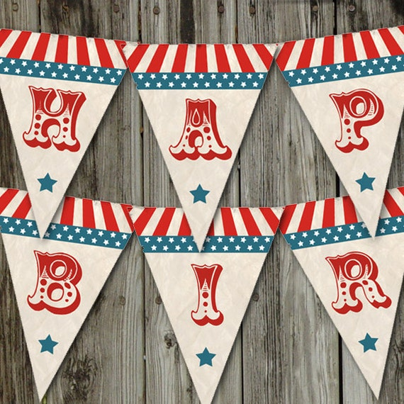 Little Firecracker Printable Happy Birthday Vintage Fourth Of July