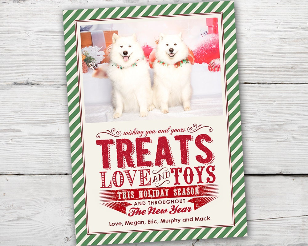 Pet Holiday Cards Pet Christmas Card Christmas Card PRINTABLE | Etsy