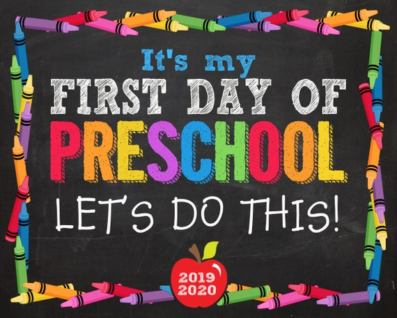 graphic about First Day of Preschool Printable referred to as To start with Working day of Preschool Signal, Initial Working day of Preschool, Very first