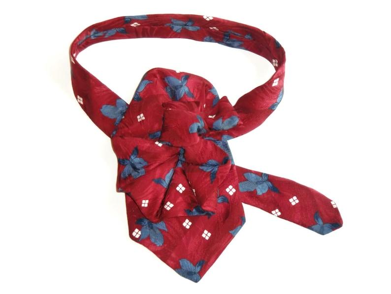 86cc08bca3a0 Silk Tie Necktie Necklace Ladies Silk Scarf Upcycled   Etsy