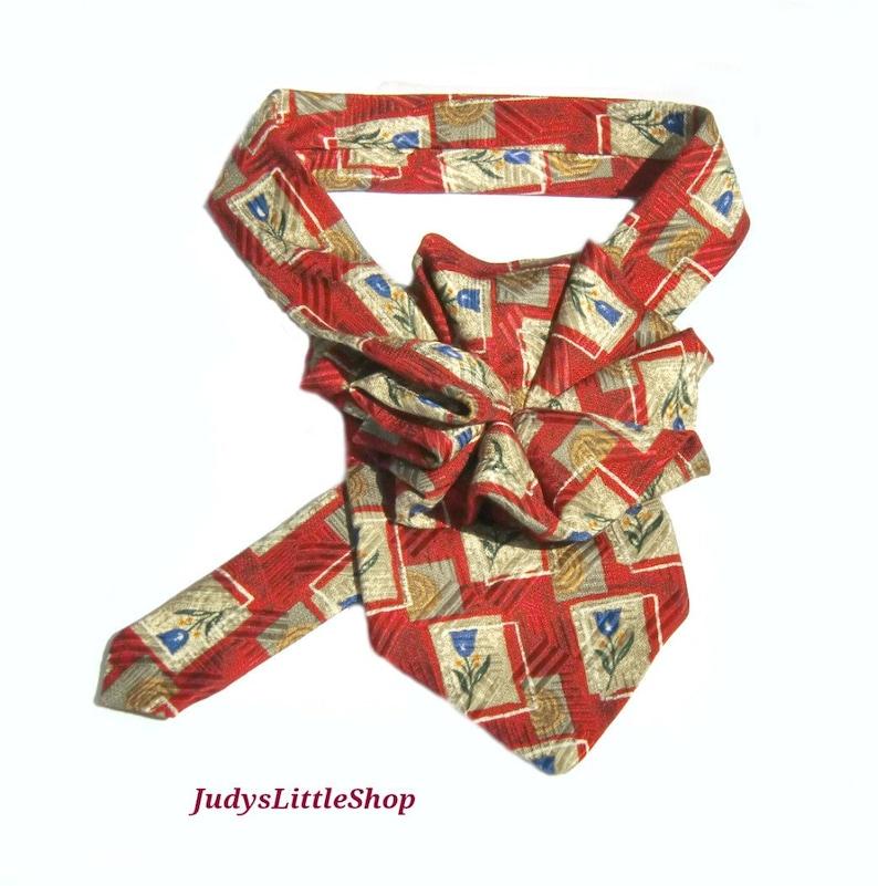1c410ebf9f62 Ladies silk necktie scarf upcycled Robert Talbott Silk tie   Etsy