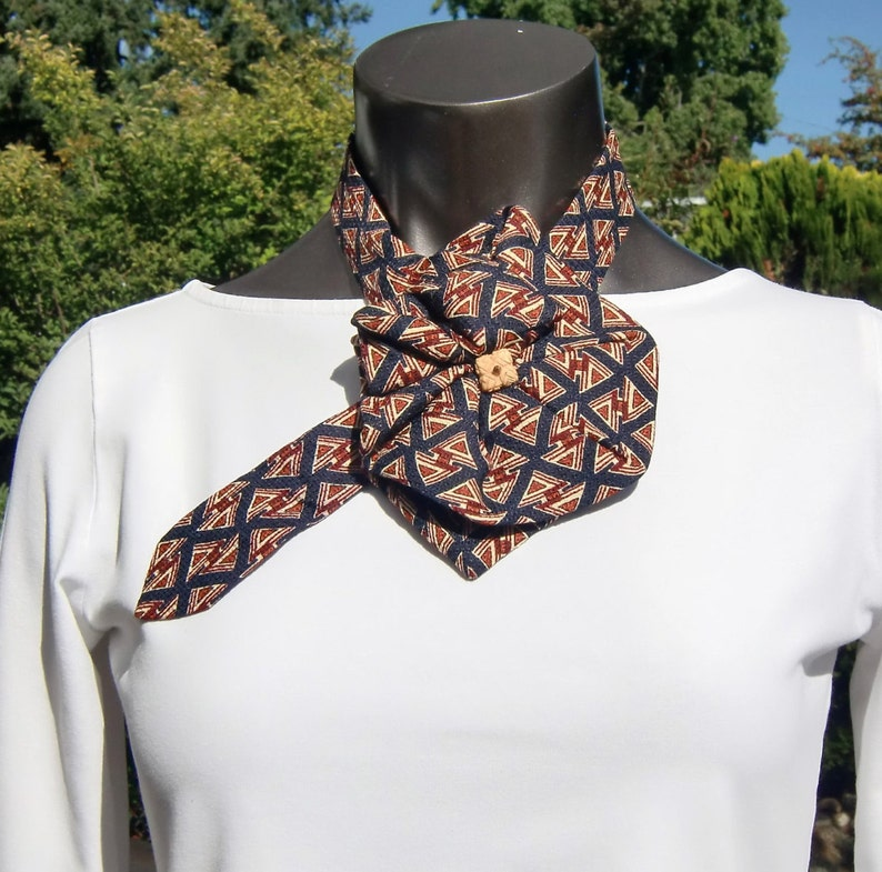 7ce3d77c4251 Ladies Silk Necktie Scarf Up-cycled Fashion Accessory   Etsy