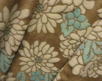 Minky Blanket and Satin back, Robins egg blue blanket