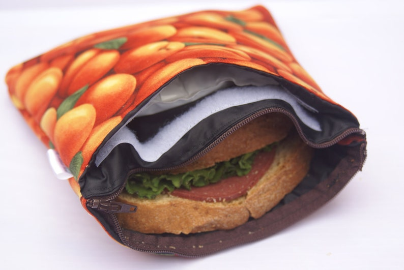8 x 8 Insulated & Zippered Reusable Sandwich Bags image 0