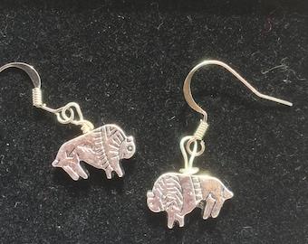 Bison Fish Hook Earrings