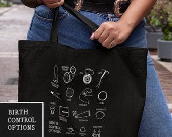 Birth Control Tote Bag | Contraception Options Sex Education Sex Educator Tote