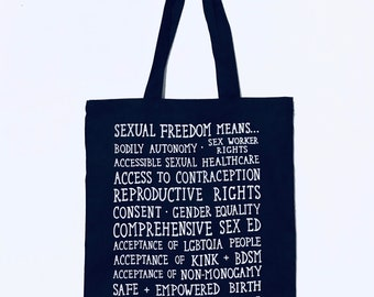Slightly Imperfect Sexual Freedom Tote Bag | Sex-Positive Feminist Sex Education