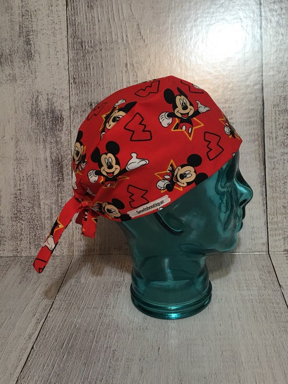 Mickey Mouse Christmas Scrub Hat-Minnie Mouse Christmas Scrub Cap-Disney Christmas Scrub Cap-Disney Christmas Scrub Cap Christmas Scrub Cap